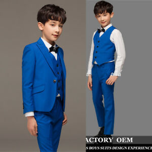 a3a82aa50 Boys Suits Page Boy Royal Blue Baby Formal Party Prom Kids Wedding ...