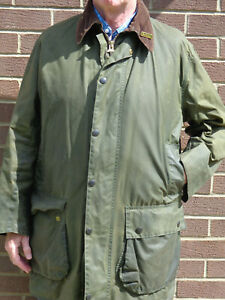 Barbour-Border-Wax-Jacket-42in-chest-with-Detachable-Warm-Pile-Liner