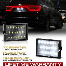 For 2014 2021 Dodge Durango Super Brightwhite Led License Plate Light Lamp Set