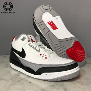 AIR JORDAN 3 RETRO 'TINKER HATFIELD' - WHITE BLACK FIRE RED-CEMENT - AQ3835-160