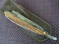 Damast Messer Rasiermesser 8/8 Damaststahl Straight Razor Handarbeit Hohlschliff