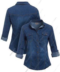 Pour Chemise 12 Taille Jeans En shirt Femmes Neuf 10 Classique 14 Bleu T 8 x6fHwAUAdq