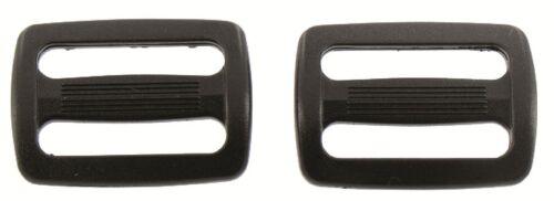 Highlander 25mm Slip Lock Triglide  Black Plastic Pack of 2 Rucksack Toggle