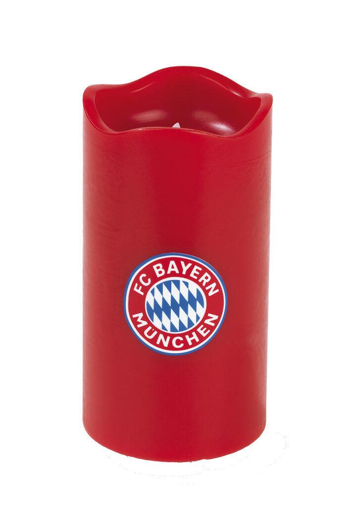 FC FC FC BAYERN MÜNCHEN LED-Echtwachskerze - Mit rotierender FC Bayern-Logo-Projektion 2ca279
