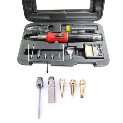 5X HS-1115K 10in1 Pro Butane Gas Soldering Iron Kit Welding Kit Torch Pen TooOOC