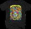 Multicolor-Neon-Color-Majestic-Lion-King-of-Jungle-Big-Cat-Safari-T-shirt thumbnail 3