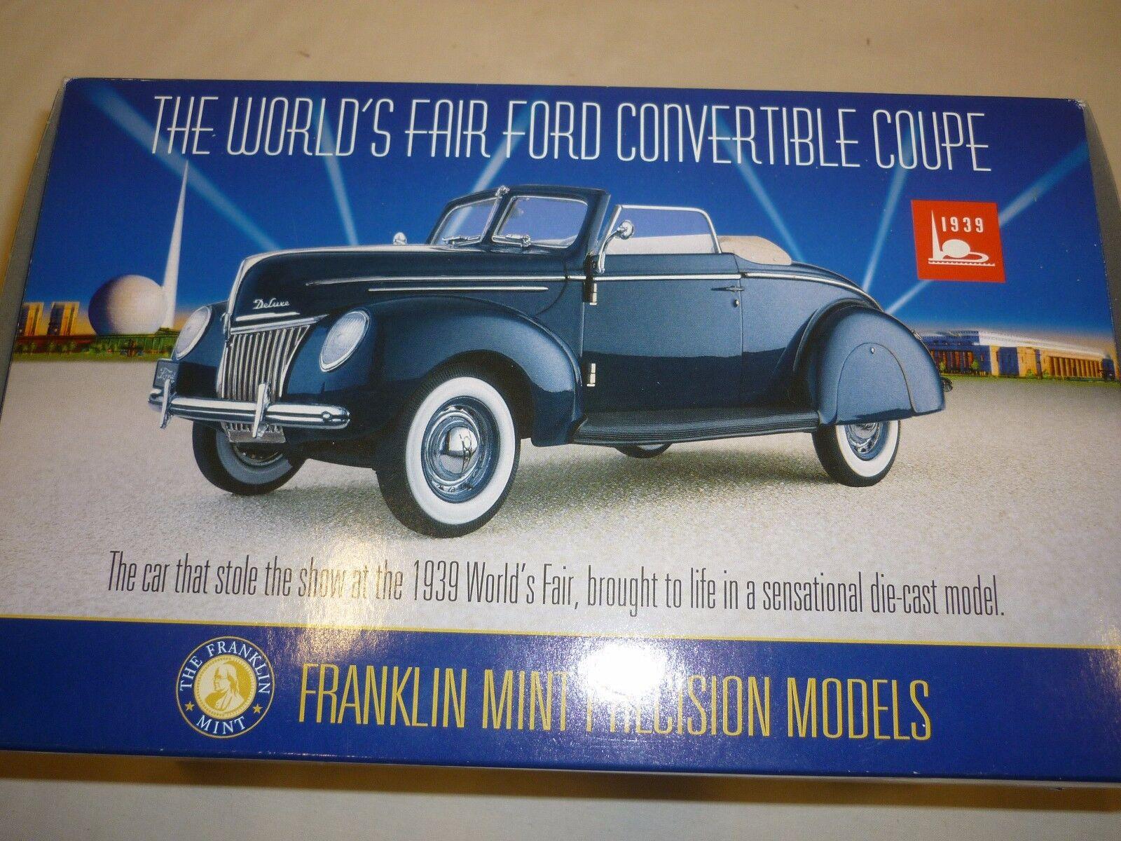Franklin Mint la Feria Mundial 1939 Ford Converdeible Coupe, En Caja