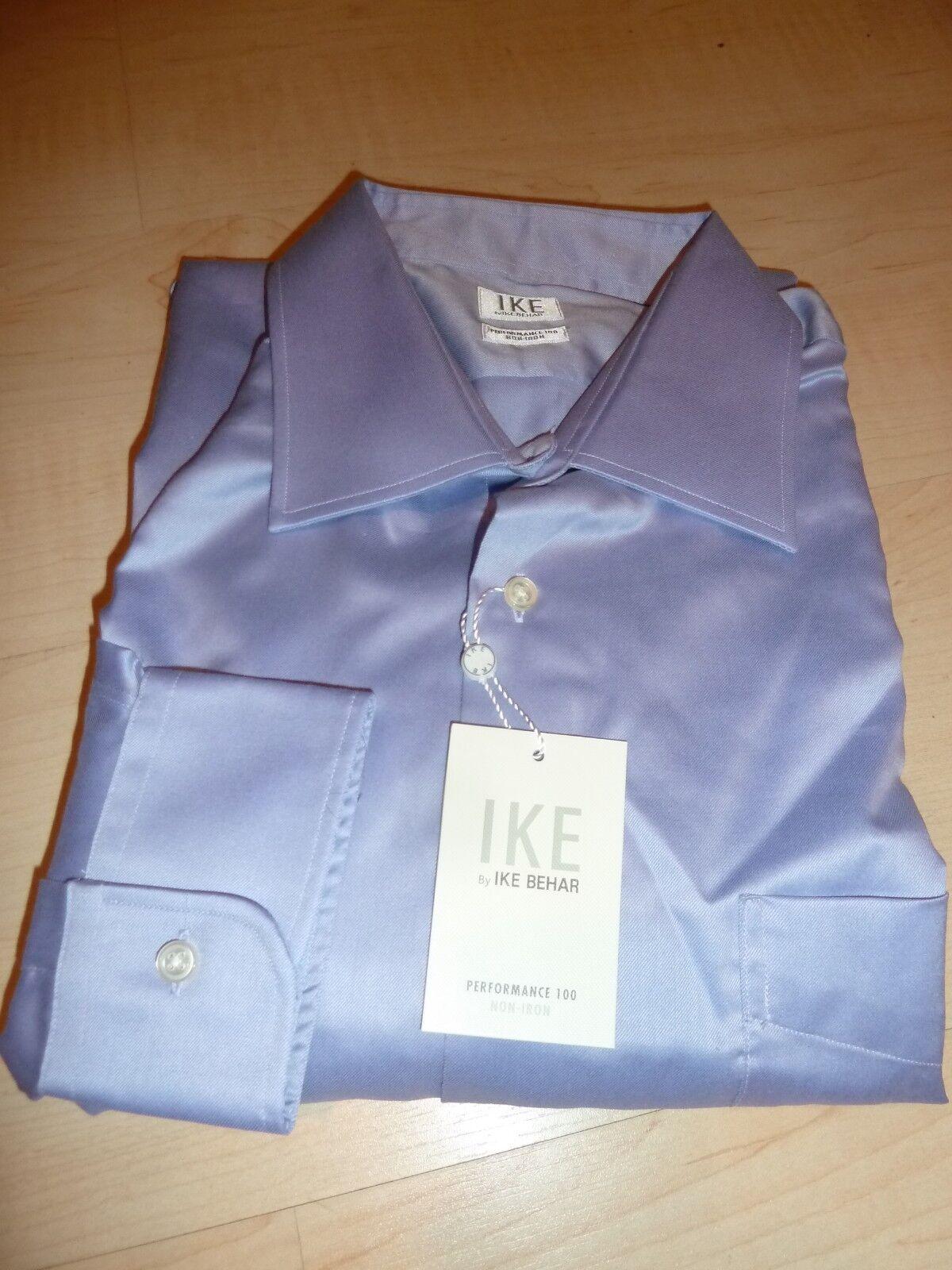 NEW  IKE BEHAR MENS SHIRT Sz 16 33 Non-Iron Performance Cotton purplec BC
