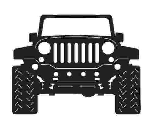 Jeep DXF File Ready For Plasma or Laser Cutting