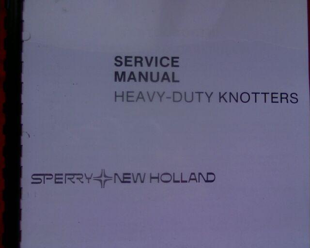 Holland 311 315 317 320 340 Hay Baler Knotter Workshop Service Manual Book
