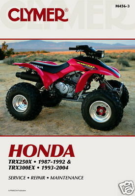 1987 Honda TRX250 Repair Manual Clymer M455 Service Shop Garage Maintenance