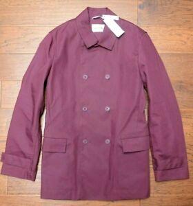 Lacoste BH2363 $375 Men's Water Repellent Vendange Cotton Pea Coat Jacket M 50