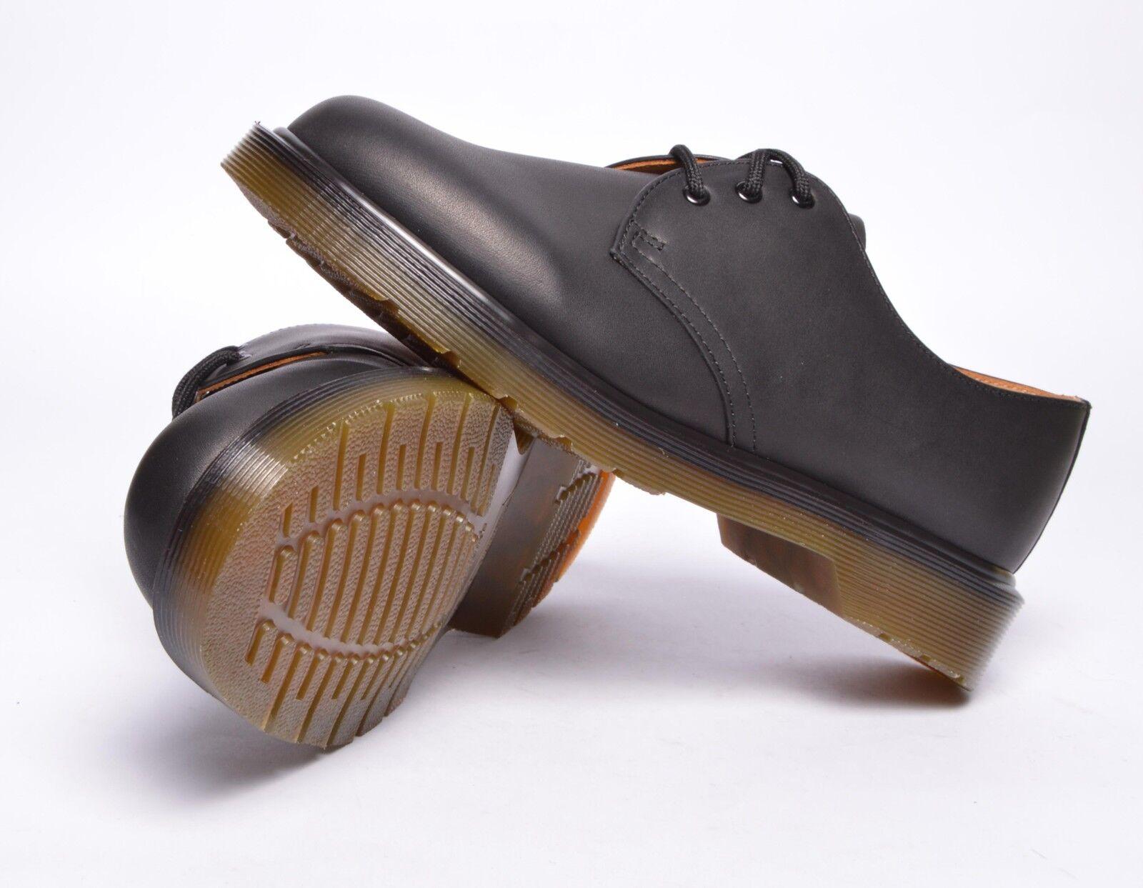 Dr Martens Schuhe 1461 pw black noir greasy Schuhe schwarz