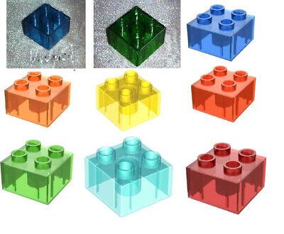Steine Lego Duplo 3 Bausteine 2 x 3-6er Noppen hell-blau