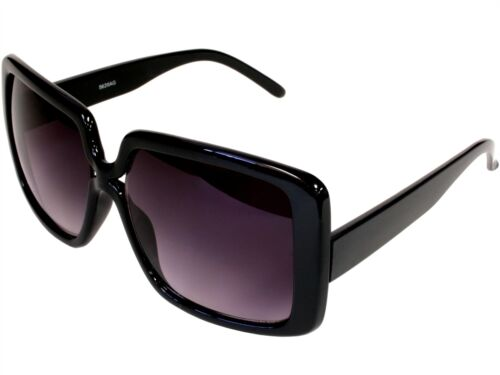 Retro Womens Square Frame Sunglasses Butterfly Designer Black Gray