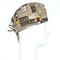 Mickey Mouse On Brown Theme Scrub Hat