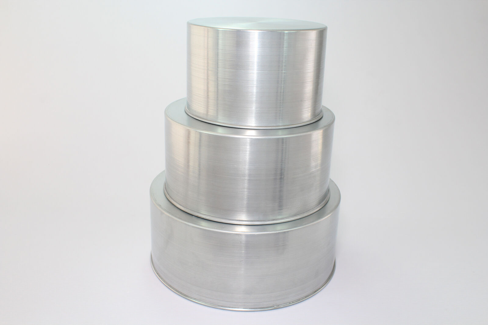 Round Cake Baking Tins - 4  Deep - 3 Tier ( 6 9 12  )