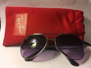 Silver Frame Black Lenses Aviator Sunglasses