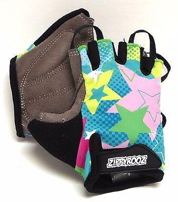 ZippyRooz Stars Toddler// Little Kids Bike Glove Sport Half Finger Girls Unisex