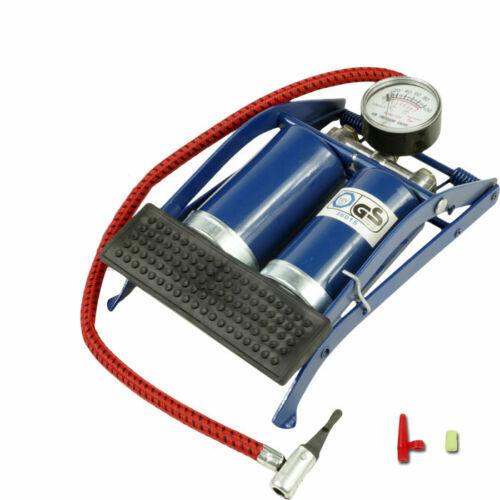 Simple//Double pompe à pied Barillet Cylindre Pompe à air Van Vélo Voiture Pneu