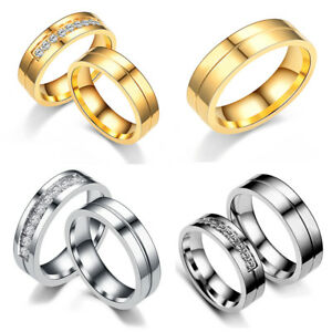 Fashion-Women-Men-Engagement-Wedding-Ring-Stainless-Steel-Rings-Couple-Ring-Gift