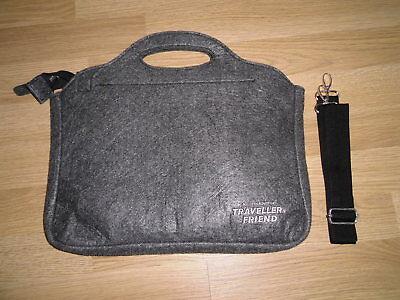 Authentic Tavellers Friend Laptop - Netbook Tasche Aus Filz # Messenger Bag Filz