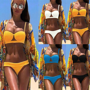 78d48b4d10530 Women Sexy two piece padded push up bikini swimsuit set swimwear ...