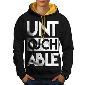 Wellcoda Exzellente QualitäT Untouchable Text Slogan Men Contrast Hoodie New Sport-kapuzenpullis & -sweatshirts Herrenmode