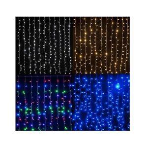 Tende Luminose Da Esterno.Details Sur Tenda Luminosa Pioggia Luci Natale Bianco Multicolor Blu Prolungabile Da Esterno