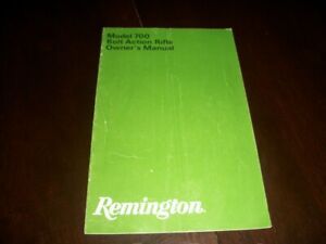 Remington 700 Bolt Action Rifle Owners Manual