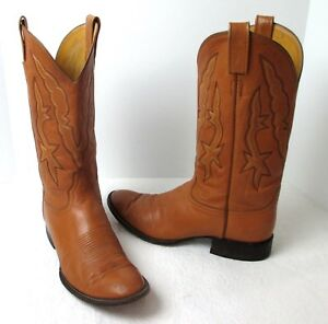 Made in USA Women/'s Sz Vintage LAREDO Brown /& Black Leather Crepe Sole Wester Roper Boots 9.5 EE