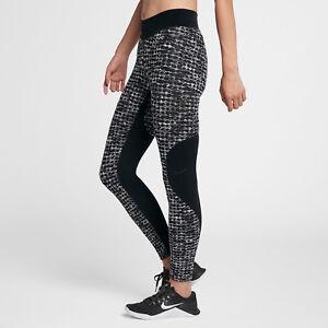 10b8fb6086c41 Nike Pro Hyperwarm Women's Plus Size Training Tights 2X Black Gray ...