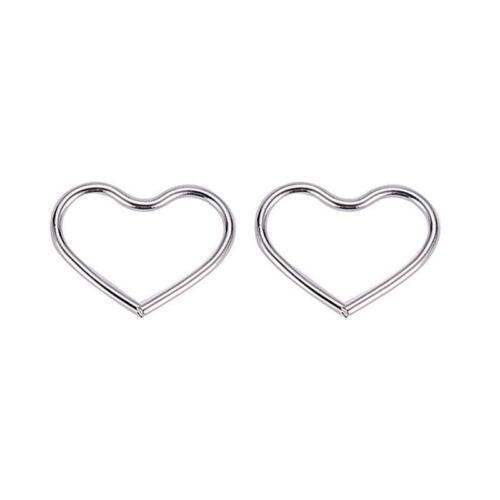 Women Love Heart Jewelry Rock Ear Clip Cuff Wrap Piercing Clip On Earring LA