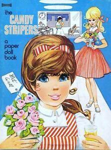 VINTAGE UNCUT 1963 CANDY STRIPERS PAPER DOLLS~#1 TOP REPRODUCTION~CUTE SET!