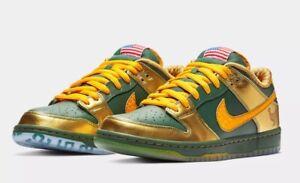 Nike SB Dunk Low Pro DB gold Doernbecher Freestyle Green Joey Bates ... f6bf04279