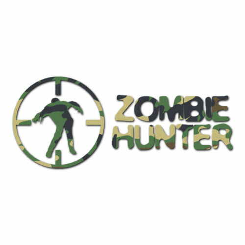 Multiple Patterns /& Sizes Zombie Hunter Crosshairs ebn768 Decal Sticker