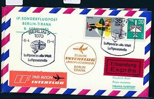 97502) Rda Coursier So-carte If So-lp Berlin-tirana 8.4.85-afficher Le Titre D'origine Usines Et Mines