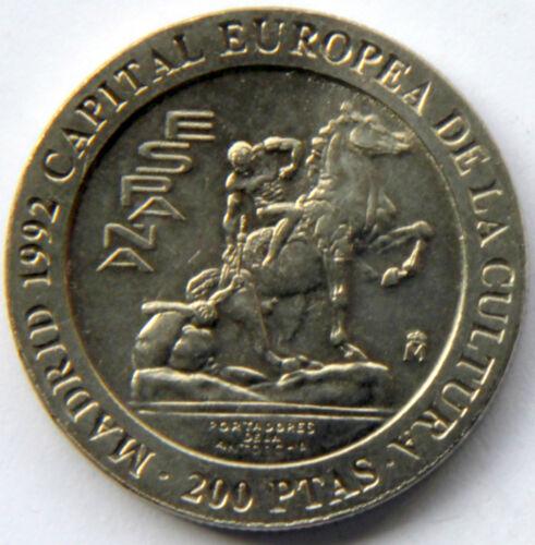 SPAIN JUAN CARLOS I 200 PESETAS 1992 HORSE KM-909 MINT ROLL