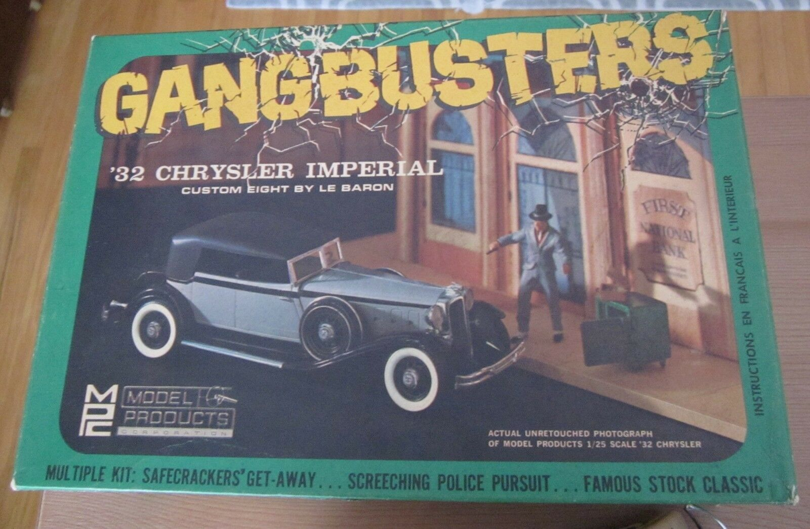Mpc gangbusters 1932 chrysler imperial le baron kit   201 gut gebaut und box - 60.
