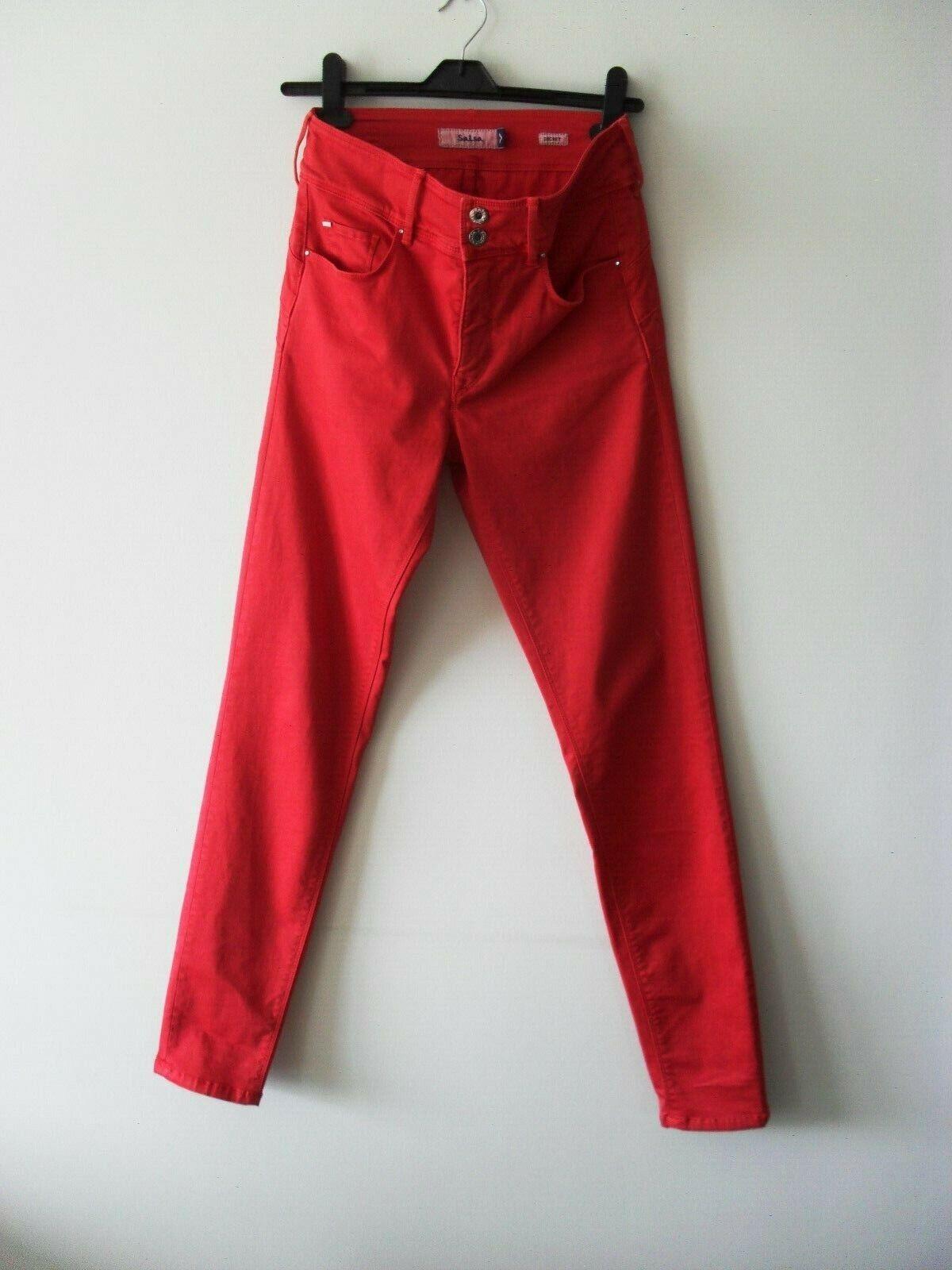 Salsa secret push-in slim leg jeans in red W30 x L32