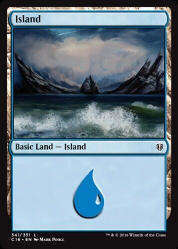 341 NM-Mint 10x Island English Commander 2016 MTG Magic