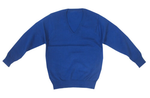 Brand New Authentic Marks and Spencer Blue V Neck School Jumper