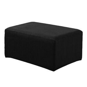 Небольшой пуфик пуф чехол эластичная ткань скамеечка для ног диван сиденье чехол черный