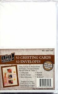 50-Pack-Blank-Greeting-Cards-amp-Envelopes-5x7-A7-White-Acid-Free-Mailing-Cards