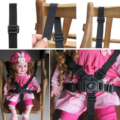 1*Baby-Kind-5-Punkt-Gurt Kinderwagen Hochstuhl Pram Buggy Auto sicher Gurt-Bügel