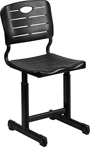 Flash Furniture Adjustable Black Student Chair with Black Pedestal Frame