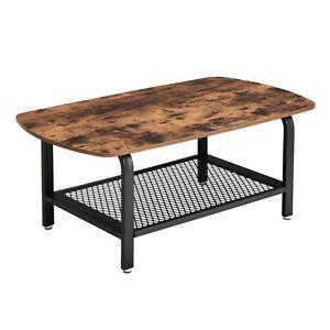 VASAGLE Table basse vintage Table d\'appoint Table de salon Armature ...