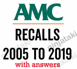 Details about 2005 to 2019 Latest AMC MCQ Australian Medical Council recalls