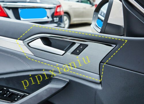 Black Titanium Inner Door Handle Panel Cover Trim For Volkswagen Jetta 2019 2020