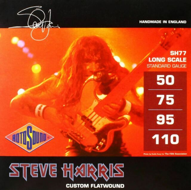 Rotosound SH77 /'Steve Harris/' Signature Flatwound 4-String Bass strings 50-110
